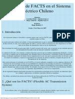 Aplicación de FACTS en el Sistema Eléctrico Chileno