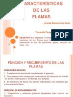 Características de las flamas