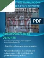 OBJETIVOS EVALUACIÓN PSICOLÓGICA EN EL DEPORTE