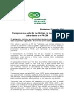 Compromiso solicita entrar na comisión de urbanismo do PXOM, có resto de colectivos que presentaron alegacions