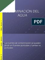COTAMINACIÓN DEL AGUA