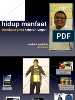 Hidup manfaat, Slide Saptuari Sugiharto