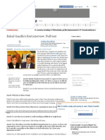 Rahul Gandhi's First Interview_ Full Text - The Times of India