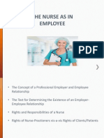 Nurse as an Employee