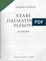 Ivo Lhotka - Kalinski - Ivo Lhotka - Kalinski Stari Dalmatinski Plesovi Za Klavir