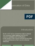organisation of data