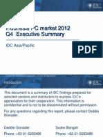 Market Summary Q4 2012_Indonesia PC Market Q4 2012