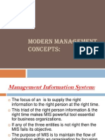 Modern Mgmt Concepts