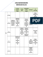 jadwal pendidikan kimia