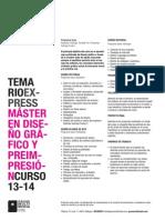 Temario Gráfico 2013-2014