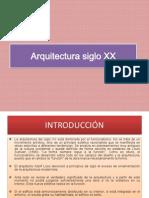 Clase 01_Arquitectura Siglo XX_INRODUCCION