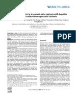 Entecavir in Decomp CHBV Patients