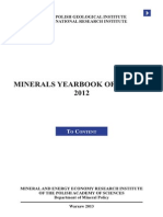 Minerals Yearbook of Poland 2012