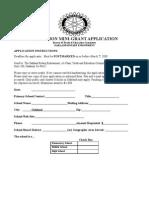 2008 Mini Grant Application