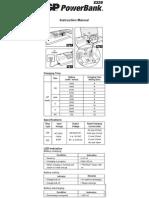 Gp Powerbank s320 Instruction Manual