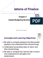 Capital Budgeting March 2013