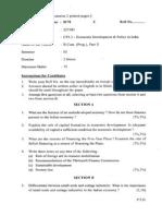 b Com (Prog) Part II Economic Development & Policy in India
