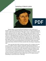 Talambuhay Ni Martin Luther