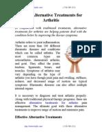 5 Best Alternative Treatments for Arthritis