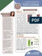Lettre d'information sur les legs et assurances vie de France Alzheimer