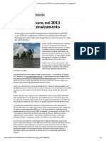 Livello Del Mare, Nel 2013 Record Dell'Innalzamento - Repubblica