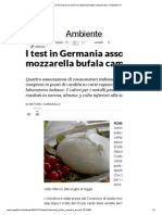 I Test in Germania Assolvono La Mozzarella Bufala Campana Dop - Repubblica