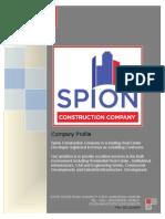 Spion Construction Profile 2013