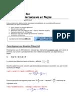 Maple - Ecuaciones Diferenciales I