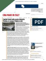 Capitali Cinesi Nelle Nostre Industrie Pechino Si Compra l'Italia in Crisi - Inchieste - La Repubblica