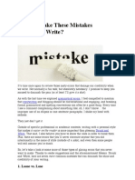 Do You Make These Mistakes When You Write?