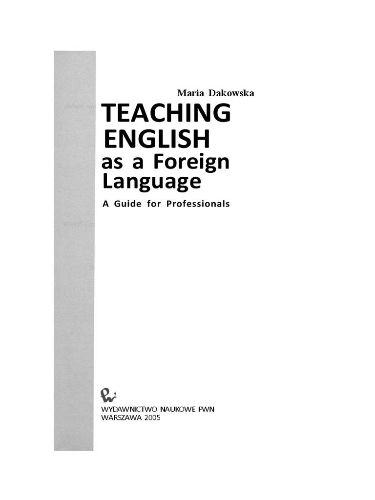 DAKOWSKA TEACHING ENGLISH AS A FOREIGN LANGUAGE PDF