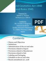 Drugs & Cosmetics Act
