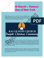 New York Church – Famous Churches of New York