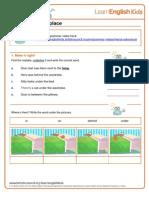 Grammar Worksheet Prepositions of Place Gwg Heros Adventure Final