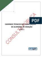 Cadernos Tecnicos Das Composicoes Lote 1 Alvenaria de Vedacao