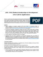 AFD-PSIA Scholarship 2014