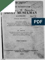 ZEYS, Ernst (1886) Droit Musulman Algérien Vol 01