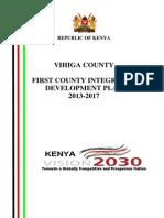 Vihiga County Intergrated Development Plan (2013-2017)