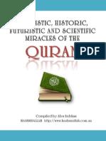 Linguistic Scientific Futuristic Historic Miracles in the Quran28012014