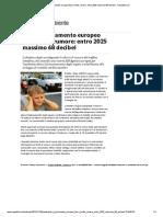 Auto, Il Parlamento Europeo Fissa Limite Rumore_ Entro 2025 Massimo 68 Decibel - Repubblica