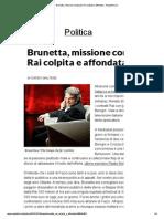 Brunetta, Missione Compiuta_ Rai Colpita e Affondata - Repubblica