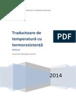 Traductoare de temperatură cu termorezistență