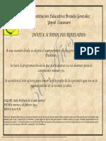 Invitacion a Egresados I.E Braulio Gonzalez