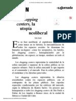 La Jornada_ Los shopping centers, la utopía neoliberal