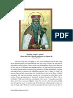 20 Prophet Samuel
