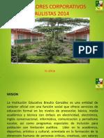 PRESENTACION VALORES CORPORATIVOS 2014