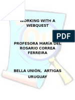 Webquest Plan - Rosario Correa