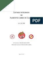 Listado de Alimentos Libres de Gluten 17-09-2013