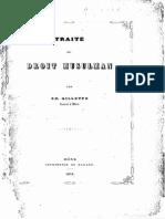 GILLOTTE, Charles (1854) Traite de Droit Musulman