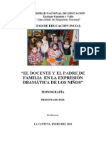 Monografia de Dramatizacion Original